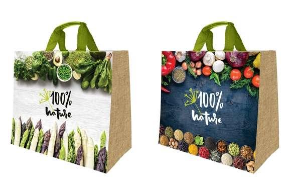 """Cabas polypropylène 30 litres """" Nature """" : Ladentaschen einkaufstaschen"""