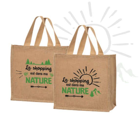 """Sacs cabas jute """"Nature"""" : Ladentaschen einkaufstaschen modetaschen"""