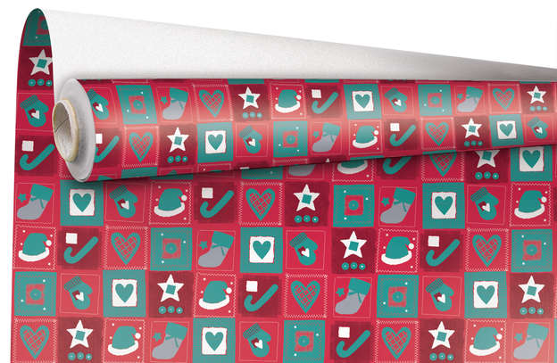 "Rouleau Papier cadeau ""Christmas"" : Verpackungzubehör"