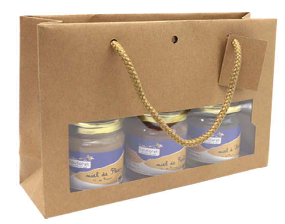Sacs fenêtre kraft large  : Verpackung für einmachgläser konfitürenglas preserve