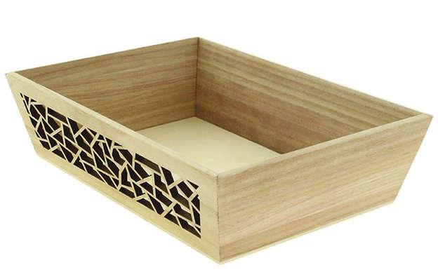 Corbeille rectangle bois : Korb geschenkkorb präsentierungskorb