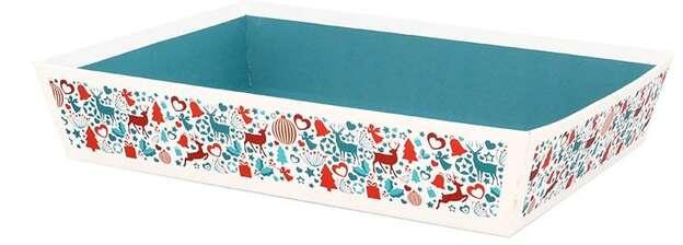 Corbeille rectangle Laponie  : Korb geschenkkorb
