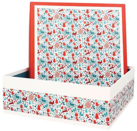 Boite Coffret  Carton Laponie  : Geschenkschachtel präsentbox