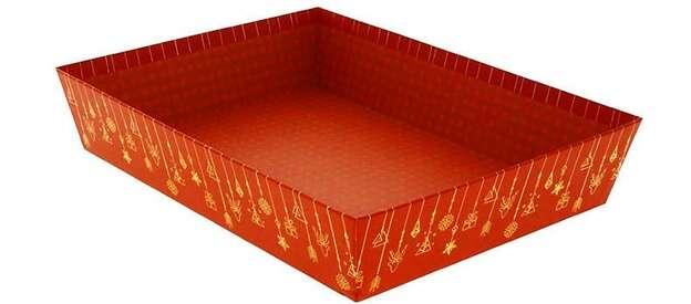 Corbeille rectangle Carton Christmas  : Korb geschenkkorb präsentierungskorb