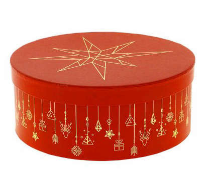 Boite à chapeau Ronde Christmas  : Geschenkschachtel präsentbox
