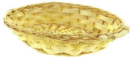 Corbeille ovale osier plein  : Korb geschenkkorb präsentierungskorb