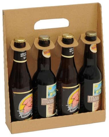 Coffret carton 4 bouteilles de bière 33cl : Verpackung fur flaschen und regionalprodukte