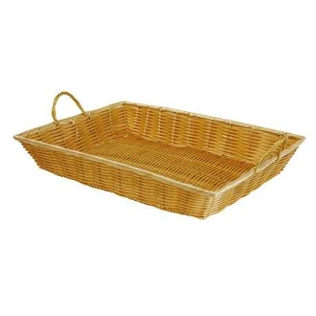 Drahtkorb PP-Draht 4-eckig m. Henkeln gelb : Korb geschenkkorb präsentierungskorb
