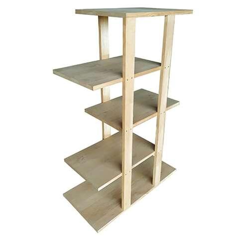 Présentoir 4 étagères déportées  : Pappmöbel einrichtung aus karton