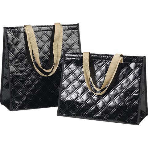 Sac isotherme rectangle noir  : Ladentaschen einkaufstaschen