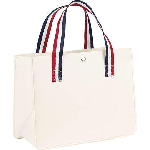 Sac feutre rectangle crème : Ladentaschen einkaufstaschen