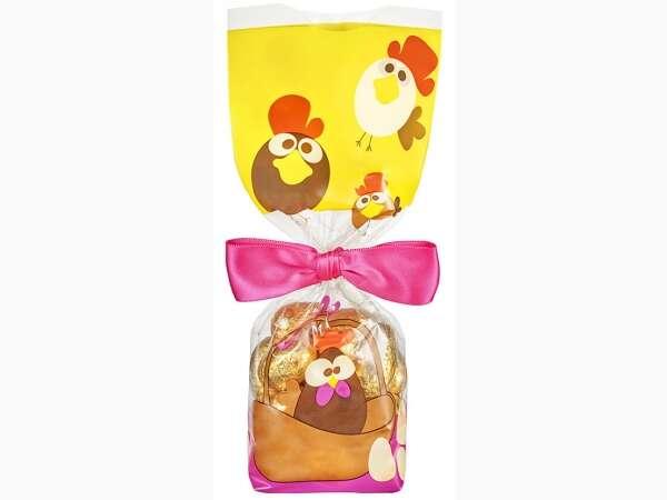 100 Sachets fond carton Pâques - Cocotte : Verpackung für feste