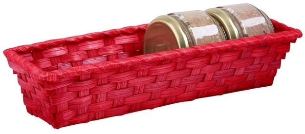 Präsentierungskorb rechteckig Spaltweide rot : Korb geschenkkorb