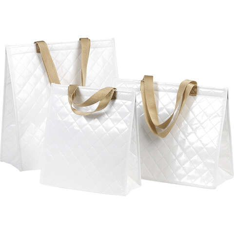 Sac isotherme rectangle blanc  : Ladentaschen einkaufstaschen modetaschen