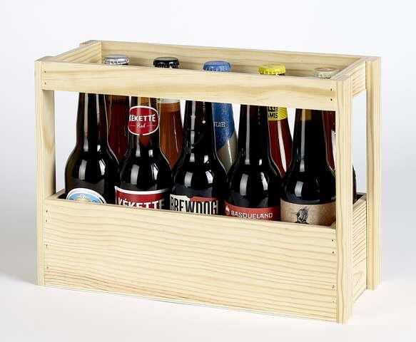 Coffret bois bières  : Verpackung fur flaschen und regionalprodukte