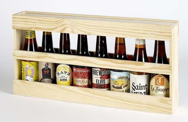 Coffret bois bières Longneck : Verpackung fur flaschen und regionalprodukte