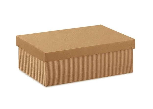 Geschenkschachtel Kraft braun m. abnehmbarem Deckel 'AVANA' : Geschenkschachtel präsentbox
