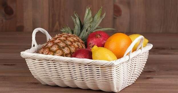 Fruitière Polypropylène Blanche : Korb geschenkkorb präsentierungskorb