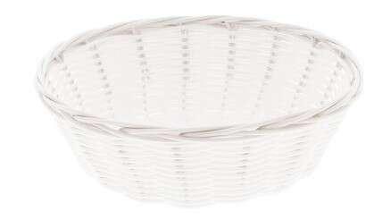 Corbeille Polypropylène plastic Blanc PM : Korb geschenkkorb präsentierungskorb