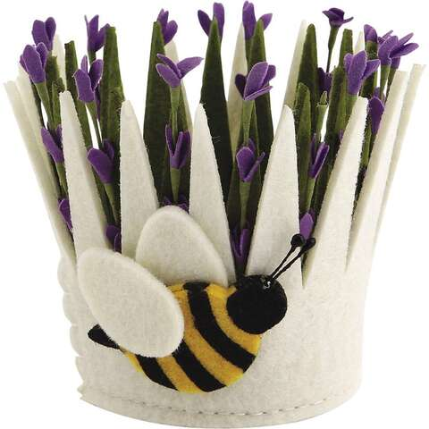 Corbeille en feutrine motif fleur  : Korb geschenkkorb