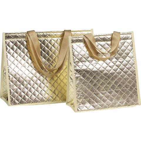 Isotasche Tragetasche 4-eckig GOLD : Ladentaschen einkaufstaschen modetaschen