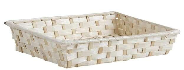 Präsentierungskorb Bambus weiss : Korb geschenkkorb präsentierungskorb