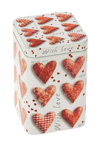 Metallbox 4-eckig Tee 'LOVE' : Geschenkschachtel präsentbox