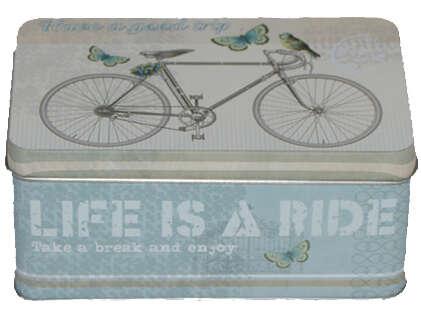 """Boite métal à thé """"BICYCLE"""" : Geschenkschachtel präsentbox"""