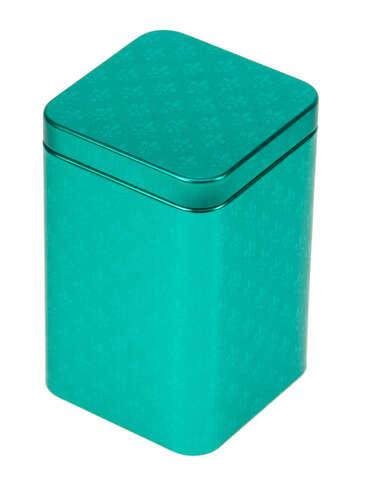 Metallbox 4-eckig Tee 'PETROL' : Geschenkschachtel präsentbox