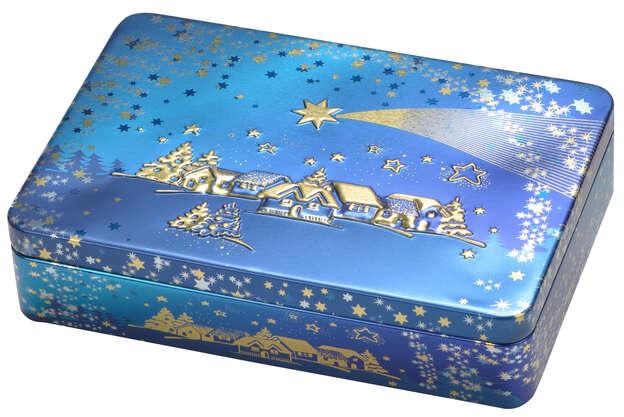 Metallbox 4-eckig 'Shooting star'  : Geschenkschachtel präsentbox