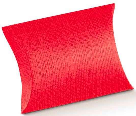 Geschenktasche Pappe rot Blockform : Geschenkschachtel präsentbox