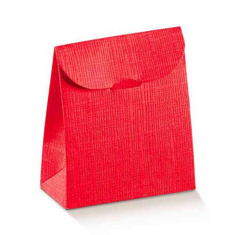 Geschenktasche Pappe rot Einsteck-Veschluss : Geschenkschachtel präsentbox