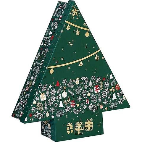 Geschenkschachtel Pappe m. Deckel Form 'Tannenbaum' : Geschenkschachtel präsentbox
