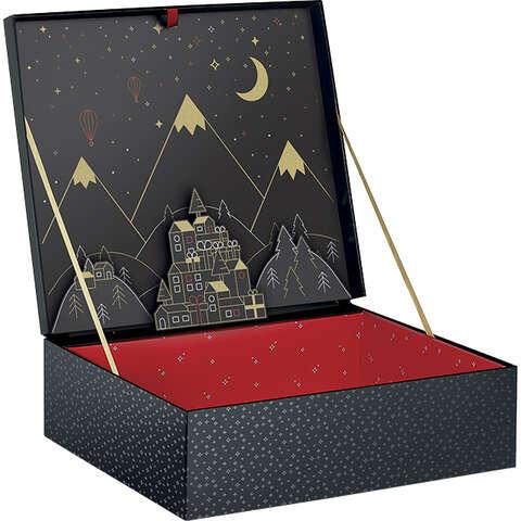 Geschenkschachtel Pappe LUXE Weihnachten : Geschenkschachtel präsentbox