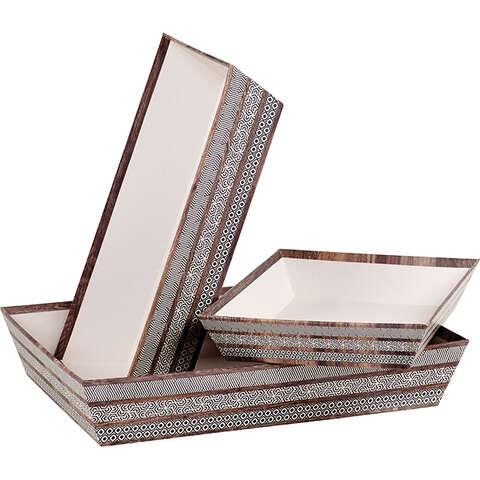 Geschenkkorb Pappe 4-eckig Holzoptik : Korb geschenkkorb präsentierungskorb