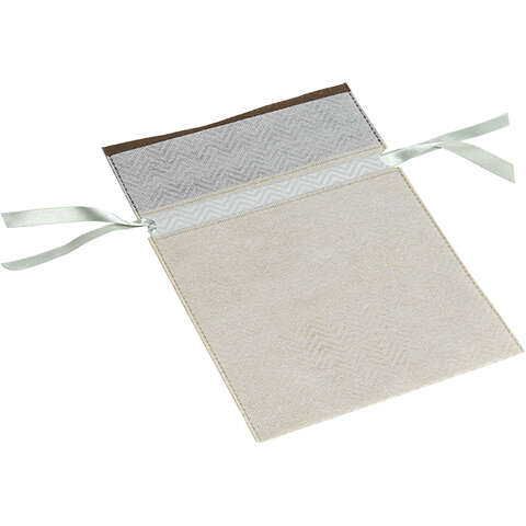 Vliessäckchen PP braun/ beige mit Schleife : Verpackung für bäkerei konditorei