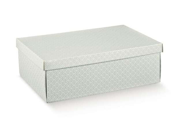 Geschenkschachtel Pappe weiss m. abnehmbarem Deckel : Geschenkschachtel präsentbox