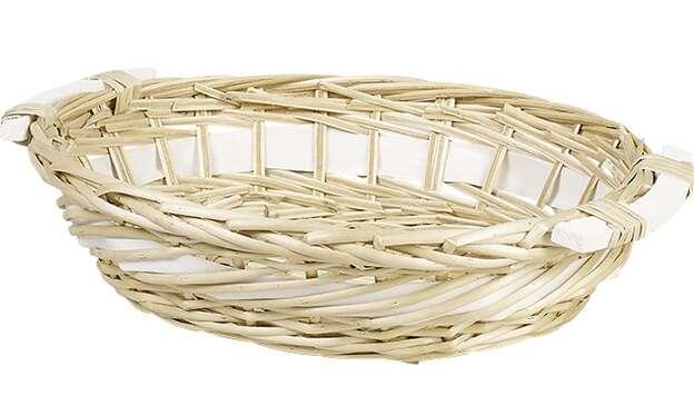 Weidenkorb oval helle Weide mit Holzgriffen : Korb geschenkkorb präsentierungskorb