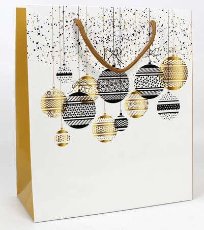 Sac kraft Boules de Noël : Ladentaschen einkaufstaschen modetaschen
