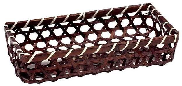 Corbeille bambou rectangle ajouré marron : Korb geschenkkorb präsentierungskorb