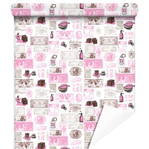 Papier cadeaux Fragances rose/gris : Verpackungzubehör