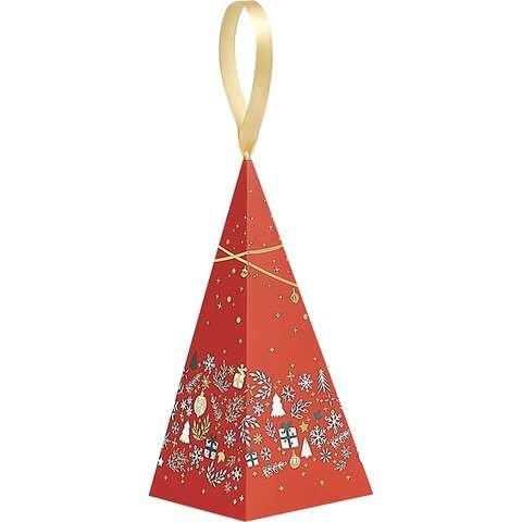 Pyramide papier décor Bonnes Fêtes : Geschenkschachtel präsentbox