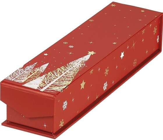 Coffret carton rectangle chocolats 1 rangée : Geschenkschachtel präsentbox