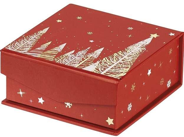 Coffret carton carré chocolats : Geschenkschachtel präsentbox