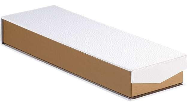 Coffret carton rectangle chocolats 2 rangées : Geschenkschachtel präsentbox