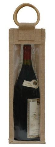 Geschenktasche Jute 1-Flasche Magnum 150 cl. : Verpackung fur flaschen und regionalprodukte