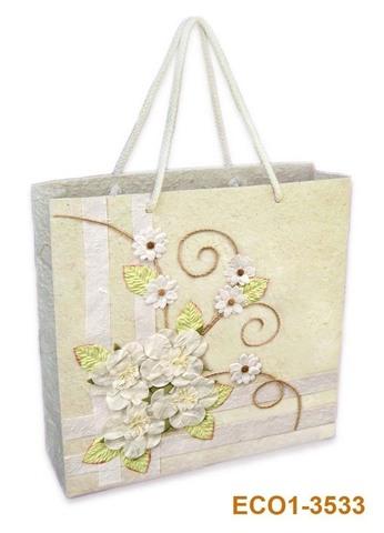 Geschenktasche Handkraft Frühlingskranz : Ladentaschen einkaufstaschen modetaschen