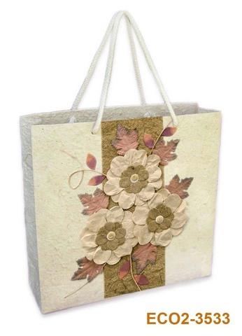 Geschenktasche Handkraft Herbststrauss : Ladentaschen einkaufstaschen
