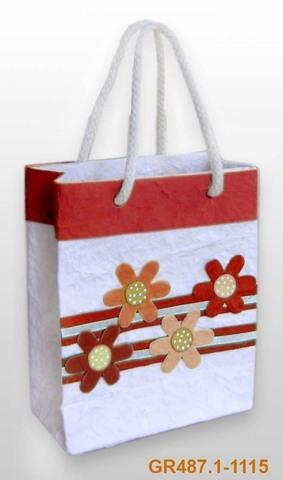 Geschenktasche Handkraft Sommerblüten : Ladentaschen einkaufstaschen