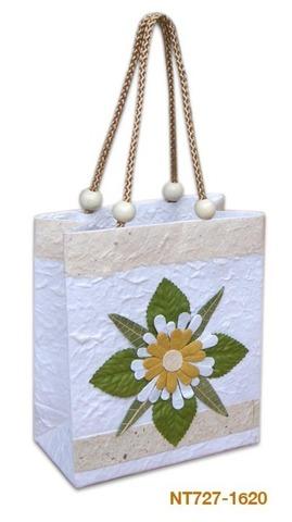 Geschenktasche Handkraft güne Blume : Ladentaschen einkaufstaschen